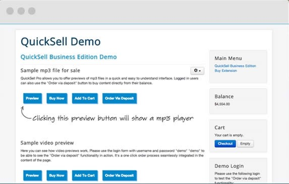 Vendere velocemente in Joomla - QuickSell File Seller