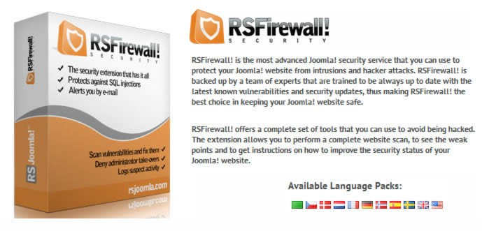 Come rendere sicuro il tuo sito joomla - RSFirewall