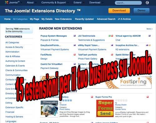 Le migliori 15 estensioni di Joomla per il tuo business